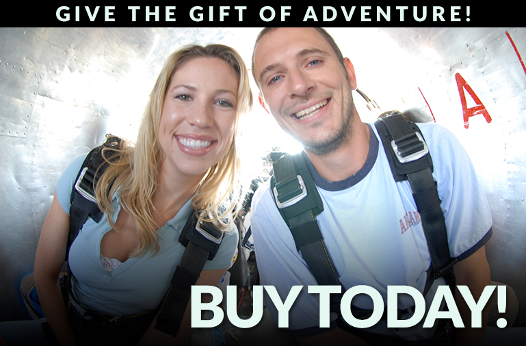 Purchase Tandem Skydiving Gift Certificates